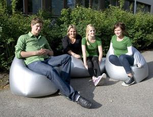 Jacob Larsson, Silje Fredriksson, Emma Söderberg och Isabel Brink.
