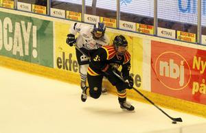 Brynäs och Lina Bäcklin var skäret före Leksand från mitten på matchen och framåt.