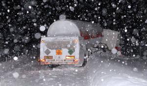 Så här såg det ut på E 4 förra vintern.