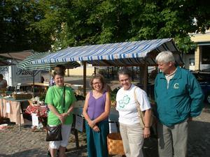 Från vänster: Barbro Larsson, Marie Erlandsson, Ulla-Britt Holmér och Hans Johansson. Bild: Mårten Öhrström