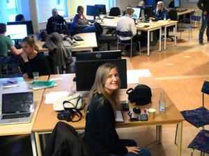 – I framtiden kan man skriva ut något där man bor men hämta information från hela världe, säger Karolina Netterlund, en av de delaktiga i projektet. Projektet bottnar i samarbetet tillsammans med tillväxtverket, regionförbundet och designcentrum.