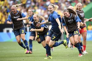 Lisa Dahlkvist satte den sista straffen i nät, igen, i matchen mot Brasilien och avgjorde därmed. Ikväll spelar Sverige mot Tyskland i OS-finalen.