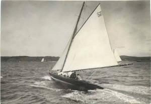 Ingenjören Gunnar Mellgren stod bakom konstruktionen av båten, som var framgångsrik på tävlingar.