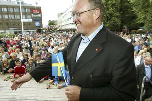 Göran Persson vid ett besök i Gävle år 2003.
