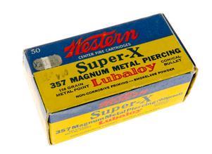 Ammunitionen. Winchester Western .357 Magnum, Super-X. Det är samma mycket speciella ammunition som misstänks ha använts vid Palmemordet.