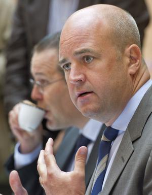 Bekymrade. Statsminister Fredrik Reinfeldt och finansminister Anders Borg talade om sämre prognoser.foto: scanpixFoto: Leif R Jansson / SCANPIX / kod 10020