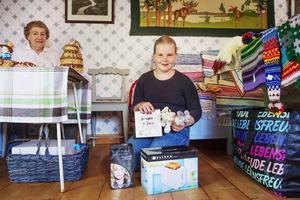 Elvaåriga Linda Backberg kammade hem fem vinster i lotteriet.