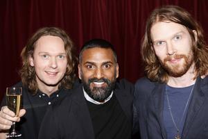 Anders Stenberg, Thomas Hedlund och Peder Stenberg i Deportees under Grammisgalan (för musikåret 2015) där de vann priset för Årets rock.