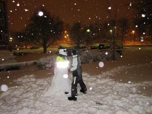 Snögubbe i snöoväderet 9 november-2010