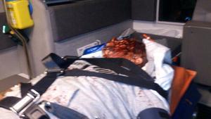 Bild från ambulansen.