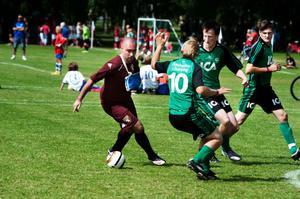 Bild från förra årets Dalecarlia Cup och matchen mellan Enköping och italienska Braglia, klass U.
