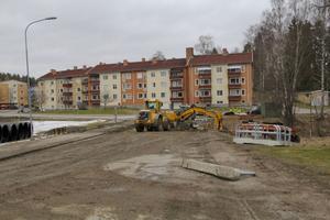 Delar av Myrbäcksgatan kommer den närmsta tiden vara avstängd.