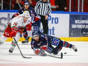 Linköpings Eric Himelfarb mot Modos Samuel Pålsson.