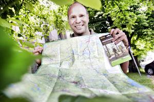 Esa Kousku har bidragit till att gästrikeleden finns på en ny karta.