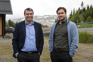 Uppe i Rödkullen, Åre, planerar Daniel Kindberg och Markus Näslund boende för mer än 7 000 personer.