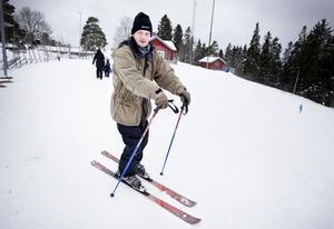 – Det var fullt på parkeringen nedanför backen, men här uppe fanns det flera platser lediga, sa Gävlebon Magnus Lindström.