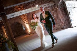 Så här såg det ut när Hanna Hedlund och Martin Stenmarck gifte sig.