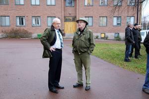 Advokaten Håkan Müntzing och Anders Dunder vid vargrättegång i Mora Lillhärdalsmålet