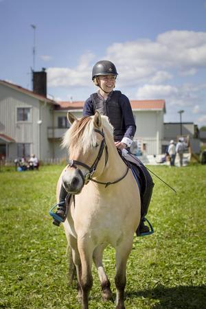 Ellen Persson och fjordhästen Maggi var på plats.