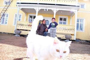 Ola Höglund, 14, räddade sin bror Simon, 6, och den vita katten Donna. Räddningstjänsten i Strömsund berömde honom för hans duktiga agerande.