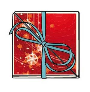 Vik ihop kortet och dekorera eventuellt framsidan mer. När du är klar knyter du bandet omkring.