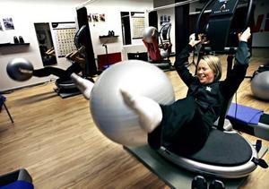 En av de värsta övningarna, här fick magmusklerna verkligen känna på att de fanns.