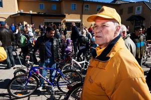 Jan Norrgo hoppas på rejäl ruljangs under cykelbytardagen på lördag, precis som det var 2013 när den här bilden togs.