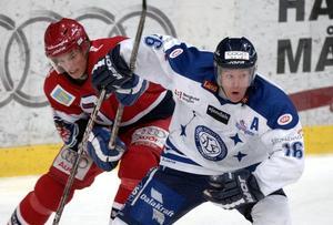 Niklas Eriksson i en match med Leksand 2020.
