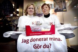 De donationsansvariga sjuksköterskorna Annika Sonefors och Karin Herkules har gjort sin vilja känd.