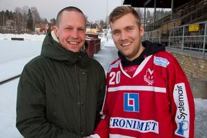 Björn Forsberg och Olle Wiberg ser fram emot samarbetet i Västanfors.
