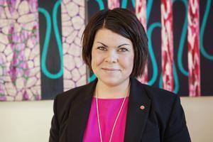 Malin Larsson jobbar inom hemtjänsten under februari.