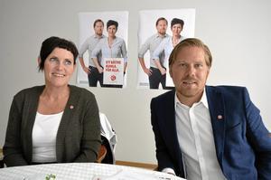 Affischnamn. Kommunalrådet Katarina Hansson toppar för första gången S-listan. Andreas Brorsson står på plats två. Foto: Jan Wijk