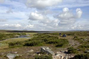 Tältläger vid Fosksjöarna.