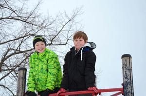 Fabian Wedin och Jamie Magnusson Hällström har båda många aktiviteter inplanerade under sportlovsveckan. Båda tycker att det är skönt med ett lov mitt i terminen, då kan man vila upp sig och ta nya friska tag när skolan börjar igen.