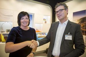 Petra Einarsson lämnar Sandvik och SMT och Göran Björkman tar över som SMT-chef. Bild: Jörgen Svendsen