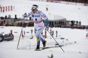 På arrangemanget av världscupen längdskidor i vinter lägger Östersunds kommun nära 1,5 miljoner kronor genom flera olika bidrag och extra anslag. Här en bild på Charlotte Kalla vid fjolårets världscup i Falun.