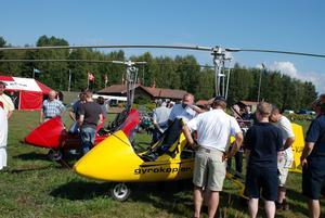 Hydrokopter. Inte bara flygplan gästade Siljansnäs.