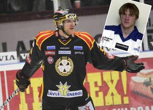Jonas Nordqvist i BIF-tröjan (stora bilden) och tidigt under sin karriär när han representerade Leksand.