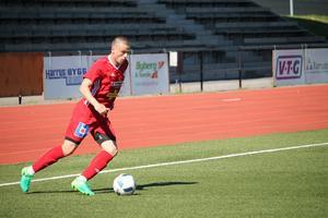 Yevgen Yefremov från division 2-laget Härnösands FF provspelar med Västerås SK den här veckan.