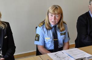 Lena Tysk, Västmanlands polisområdeschef.