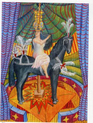 I cirkusmanegen, akvarell från 1959 av Mårten Andersson. Utrop: 20 000–30 000 kronor.