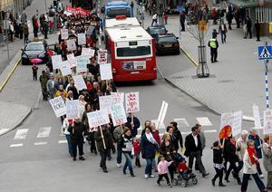 Första maj 2010. Socialdemokraternas tåg.