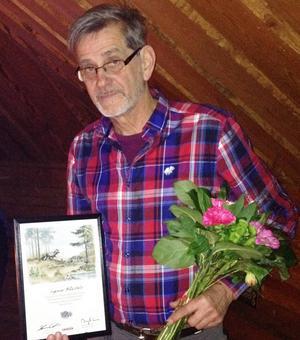 Ingemar Mäkitalo fick under måndagen motta utmärkelsen Silverkvisten.