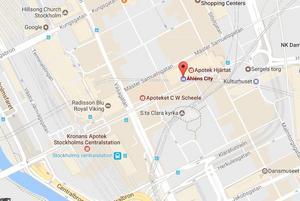 Karta över området där terrordådet hände.