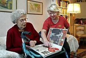 Birgit Påfvels visar Inger Hedqvist när hon i Aftonbladet berättade om hur hon träffade en ny kärlek på äldre dagar. Foto: Leif Jäderberg