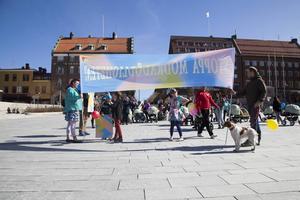 Ett tjogotal personer med barnvagnar marscherade över Östersunds gator för att uppmärksamma mödradödligheten runt om i världen.