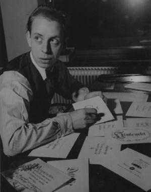 Bild på Rune Lindström från 1942.