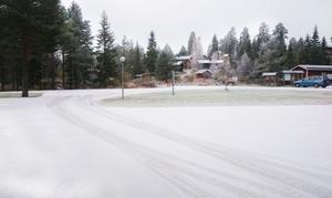 I Orsa Grönklitt var det vitt på marken på fredagsmorgonen.