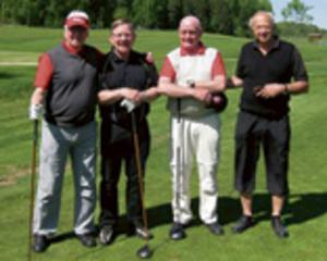 Raul Eklund, Mats Johansson, Göte Johansson och Gunnar Eriksson. Bild: Björn Ahnesjö