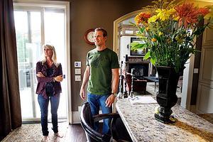 Nicklas och Annika Lidström i hemmet i Detroit.